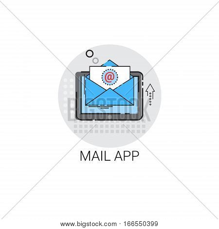 App Envelope Email Inbox Message Send Mail Icon Vector Illustration