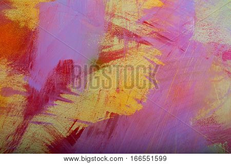 Colorful Abstract Background Of Painted Wall
