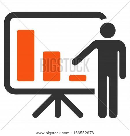 Crisis Reporting Person vector pictograph. Style is flat graphic symbol.