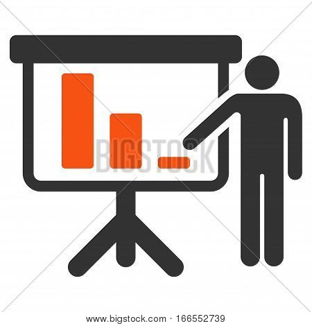 Crisis Reporting Person vector pictogram. Style is flat graphic symbol.