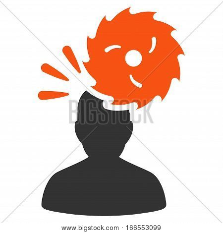 Destroy Person vector icon. Style is flat graphic symbol.
