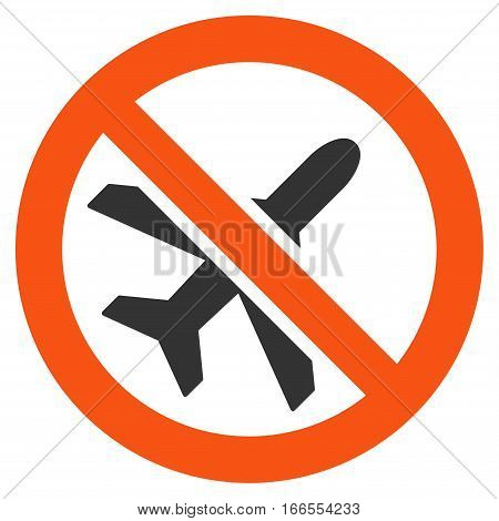 Forbidden Ariplanes vector pictograph. Style is flat graphic symbol.