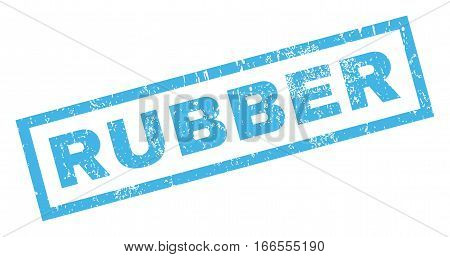 Rubber text rubber seal stamp watermark. Tag inside rectangular shape with grunge design and dirty texture. Inclined vector blue ink sign on a white background.