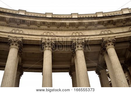 Colonnade of the Kazan Cathedral in St.Petersburg Russia.