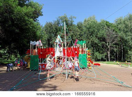 Nizhny Novgorod, Russia. - August 01.2016. Children Playground Game Complex In Kulibina Park - Sport