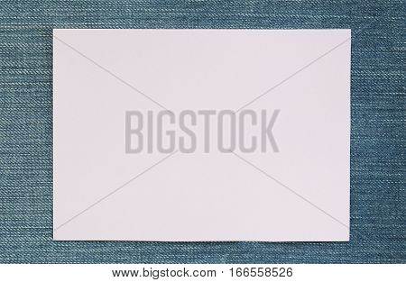 Note paper of empty and copy space on Denim backgroundYou can input the message text in picture.