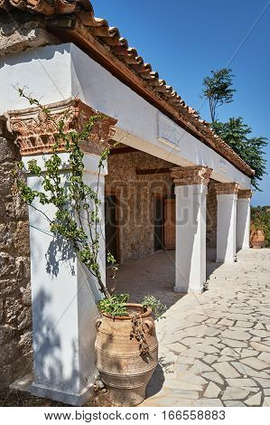 Traditional stone farmhouse on the Greek island of Kos