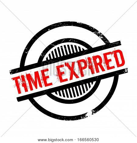 Time Expired rubber stamp. Grunge design with dust scratches. Effects can be easily removed for a clean, crisp look. Color is easily changed.
