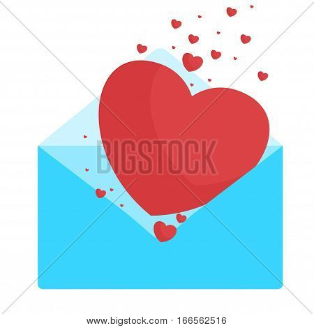 Blue Envelop With Hearts