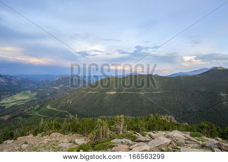 Continental Divide Grand View with Gentle Sunset