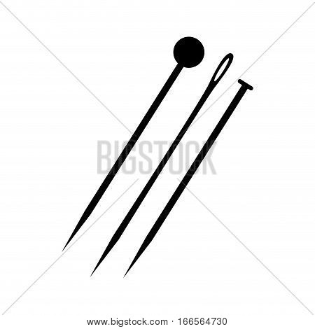 sewing needle isolated icon vector illustration design