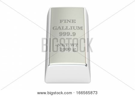 gallium ingot 3D rendering isolated on white background poster