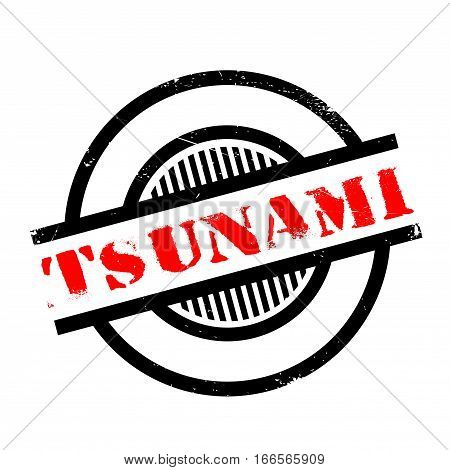 Tsunami rubber stamp. Grunge design with dust scratches. Effects can be easily removed for a clean, crisp look. Color is easily changed.