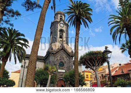 Church in Puerto de la Cruz town Tenerife Canary Islands Spain