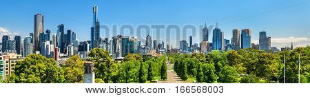 Panorama of Melbourne from Shrine of Remembrance - Australia