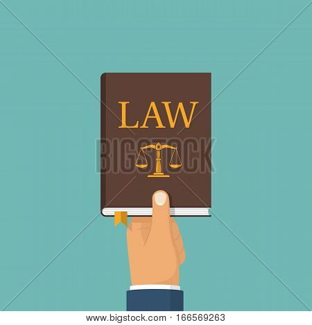 Judge Holding Law Book In Hand