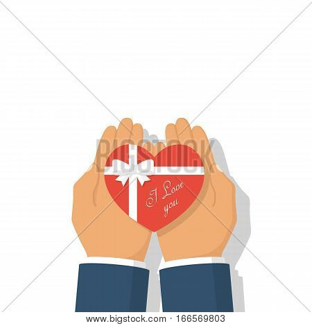 Gift Heart On Valentine's Day