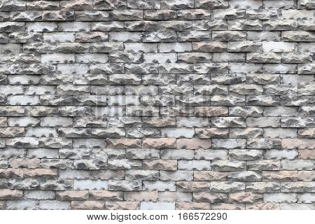 Texture of old weathered brick wall decayed and broken malfunctioning degraded for design background.