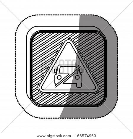 forbidden vehicle roadsign icon vector illustration graphic design