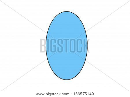 The blue ellipse on a white background.