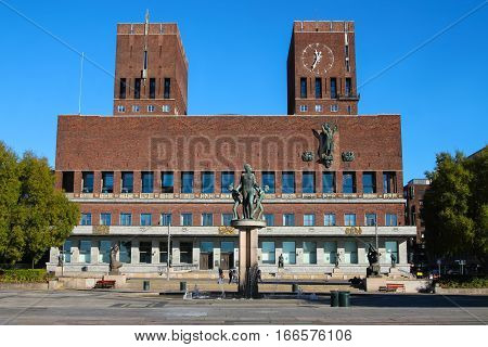 City Hall in Oslo Norway that houses the city council