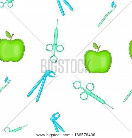Dentistry pattern. Cartoon illustration of dentistry vector pattern for web