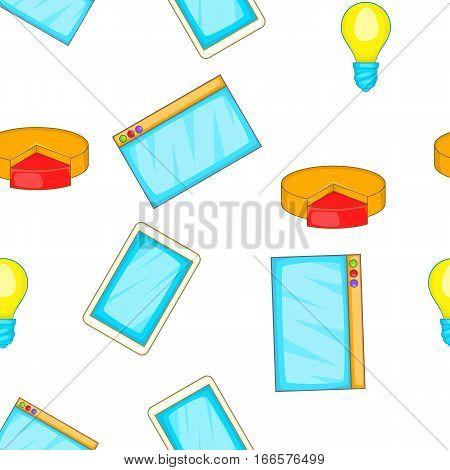 Statistics pattern. Cartoon illustration of statistics vector pattern for web