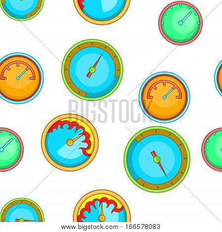 Engine speedometer pattern. Cartoon illustration of engine speedometer vector pattern for web