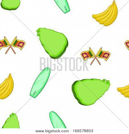 Sri Lanka pattern. Cartoon illustration of Sri Lanka vector pattern for web