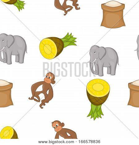 Country Sri Lanka pattern. Cartoon illustration of country Sri Lanka vector pattern for web
