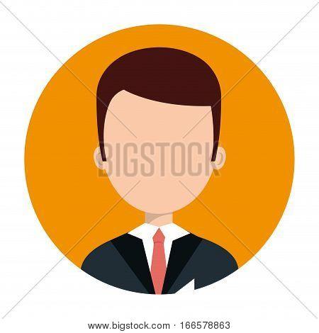 hotel receptionist character icon vector illustration design
