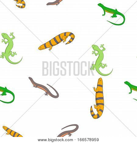 Iguana pattern. Cartoon illustration of iguana vector pattern for web