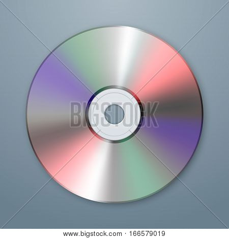 Realistic vector cd icon. Design template. Vector EPS10 illustration.