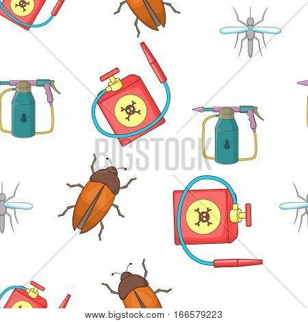 Harmful insects pattern. Cartoon illustration of harmful insects vector pattern for web poster