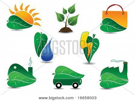 Large Ecology Icon Set. Easy to edit vector.