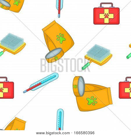 Treatment of animals pattern. Cartoon illustration of treatment of animals vector pattern for web