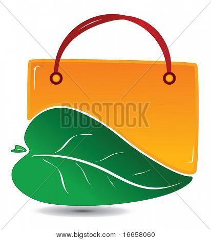 Green Shopping Icon. Easy to edit vector.