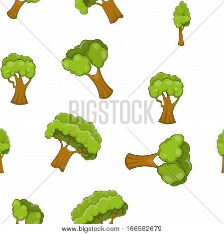 Arboreal plant pattern. Cartoon illustration of arboreal plant vector pattern for web