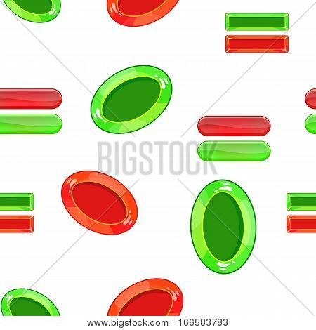 Tick pattern. Cartoon illustration of tick vector pattern for web