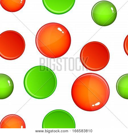 Cross and tick pattern. Cartoon illustration of cross and tick vector pattern for web