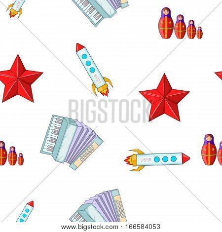 Holiday in Russia pattern. Cartoon illustration of holiday in Russia vector pattern for web