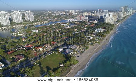 Aerial drone photo of Golden Beach FL