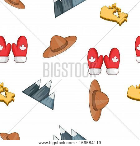 Country Canada pattern. Cartoon illustration of country Canada vector pattern for web