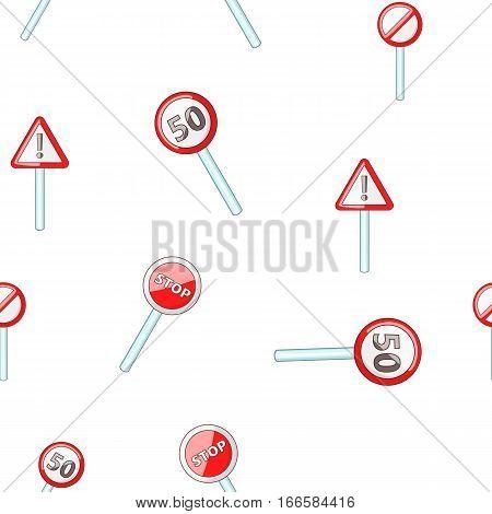 Sign pattern. Cartoon illustration of sign vector pattern for web