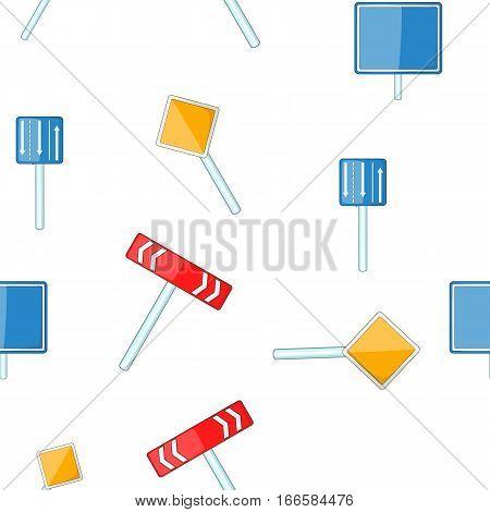 Sign warning pattern. Cartoon illustration of sign warning vector pattern for web