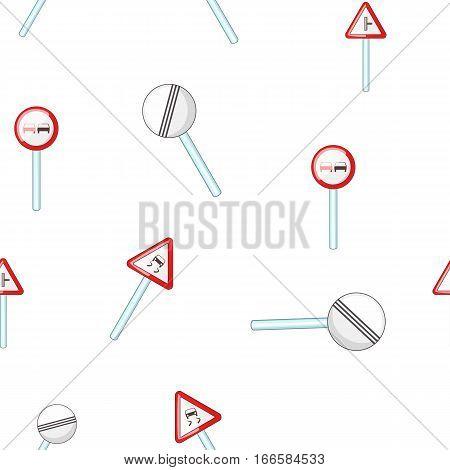 Traffic sign pattern. Cartoon illustration of traffic sign vector pattern for web