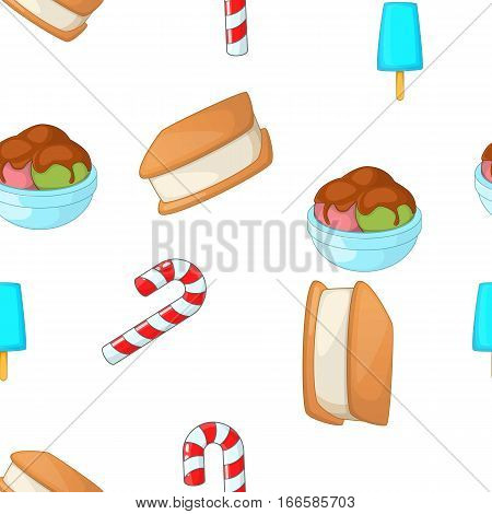 Pastries pattern. Cartoon illustration of pastries vector pattern for web