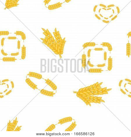 Wheat pattern. Cartoon illustration of wheat vector pattern for web