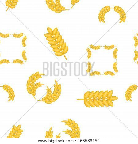 Wheat germ pattern. Cartoon illustration of wheat germ vector pattern for web