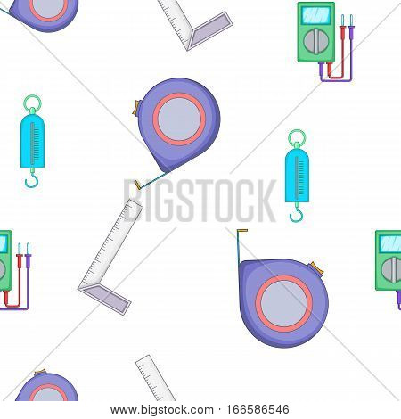 Measurement pattern. Cartoon illustration of measurement vector pattern for web